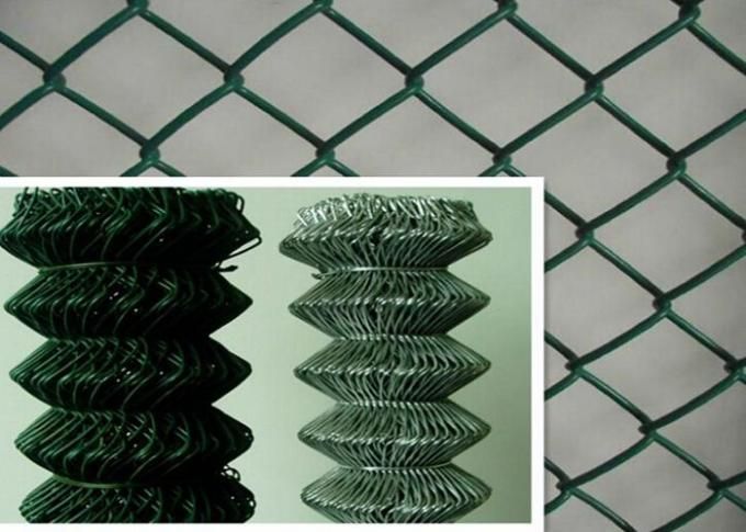 PVC Coated Galvanized Chain Link Fence System 3.0mm - 4.76mm  Security For Agriculature